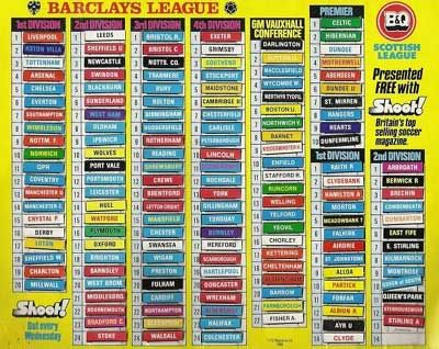 Shoot! League Ladders