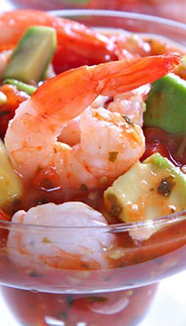 Cocktail Shrimp with Tangy Avocado Salsa