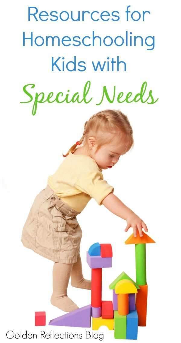 Resources and tips for homeschooling your child with special needs. www.GoldenReflectionsBlog.com