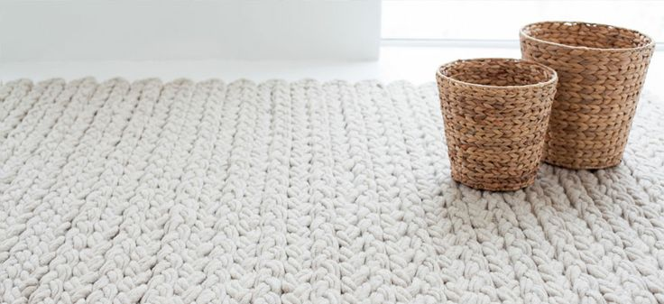 my scandinavian home: Cosy knit rugs