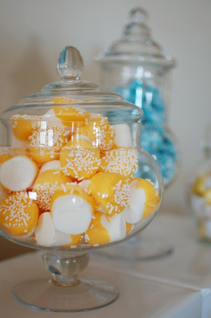 candy with the colors of the engagement party with hints of our wedding colors would be fuN!