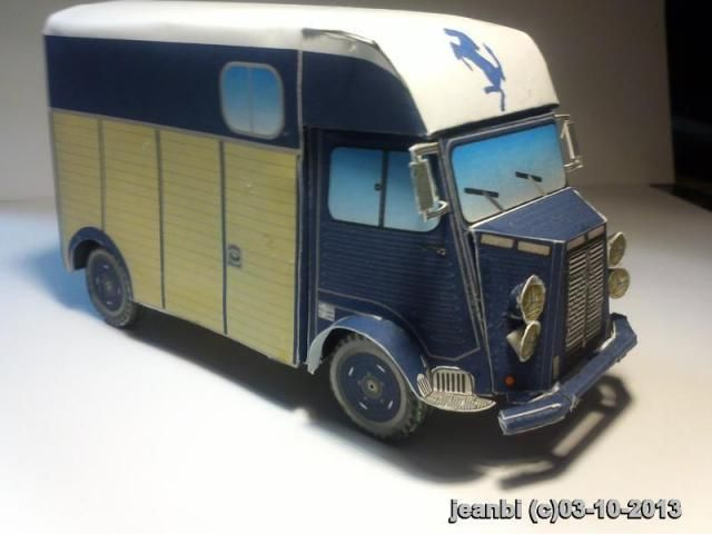 Citroen Hy Horse Transport Paper Model - by Camille & Jeanbi - == -  This is the Citroen Hy Horse Transport vehicle paper model, created by Camille and customized by Jean-François. The model was posted at Le Forum En Papier by Atlas 83.