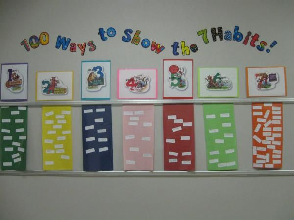 100 ways to show the 7 Habits...maybe next 100th day!  Not enough time for tomorrow.