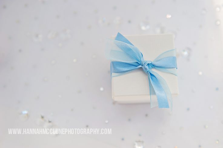 Dusky blue double ribboned favour box, complete with snowball mint imperials inside for just £1.99 each.  These make the perfect winter wonderland favour for a Christmas wedding by www.fuschiadesigns.co.uk.