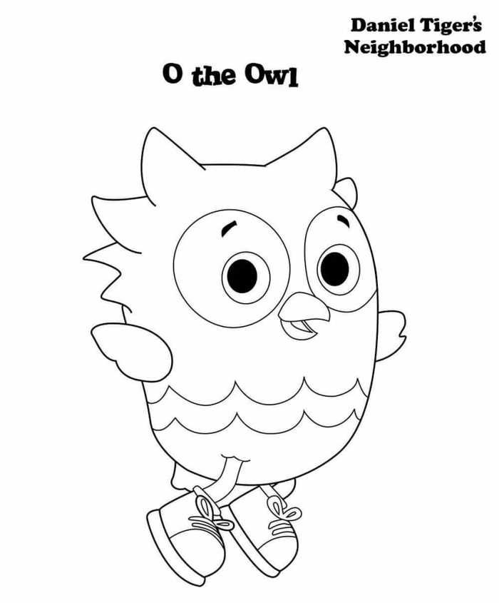 Daniel Tiger S Neighborhood Coloring Pages Free Owl Coloring
