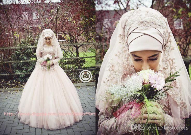 gaun pengantin muslimah cantik