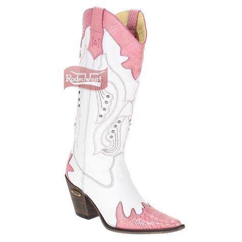 Bota Texana Feminina Cobra Anaconda Pink Thaeme & Thiago - Agabê