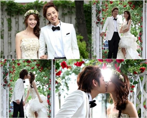 """Just watched the final episode of """"Love Rain."""" Loved her dress floral crown!"""