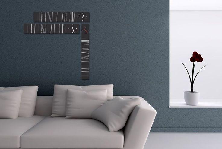 Interior Wall Clock Blacks Home Decor, Modern Luxury 3pcs Framed Wall Art   #LEMONART #ArtDeco