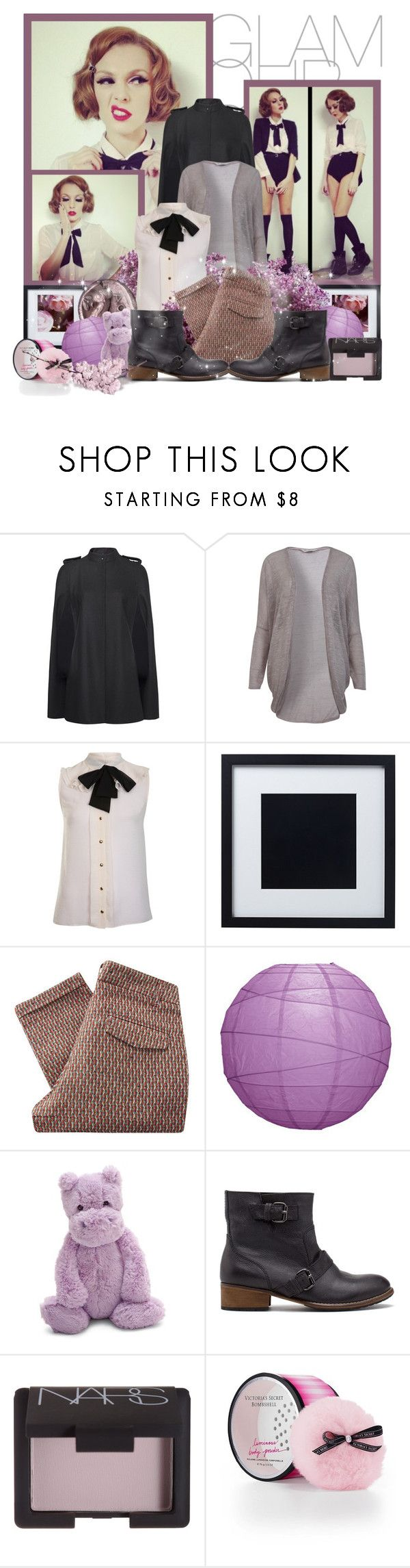 """Deep Purple"" by peony-and-python ❤ liked on Polyvore featuring beauty, MANGO, Miss Selfridge, WALL, Sessùn, Jellycat, Pull&Bear, NARS Cosmetics, Victoria's Secret and cardigan"