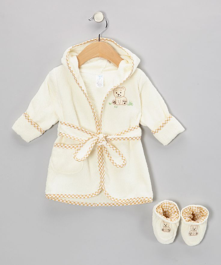 Brown Bear Terry Robe & Booties - Infant