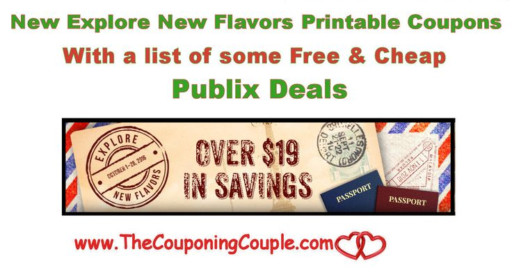 New Explore New Flavors Printable Coupons with some great free and cheap Publix Deals this week and next. Print NOW while they are available!  Click the link below to get all of the details ► http://www.thecouponingcouple.com/new-explore-new-flavors-printable-coupons-with-publix-deals/ #Coupons #Couponing #CouponCommunity  Visit us at http://www.thecouponingcouple.com for more great posts!