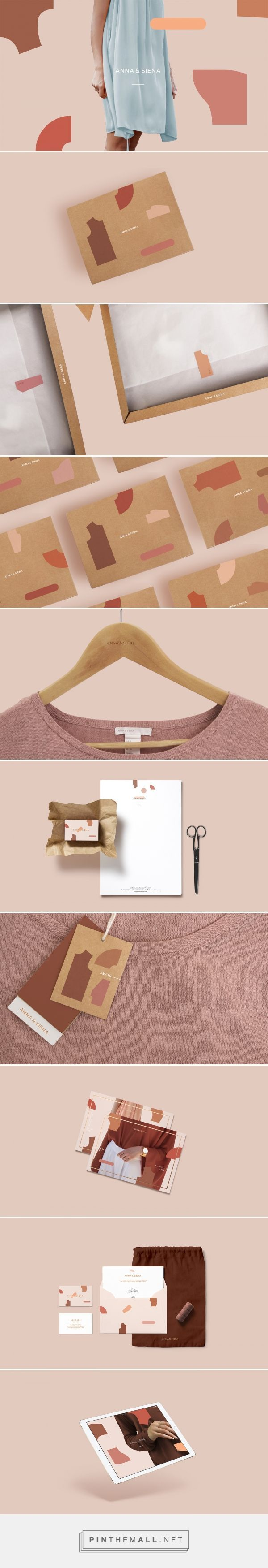 I really like how the brand design shown here is consistently incorporated into every aspect of the clothing line, from tags to the hangers to the stickers that hold the tissue paper together in the shipment box.