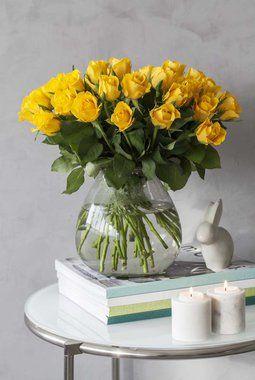 Gule roser er vakkert til påske.