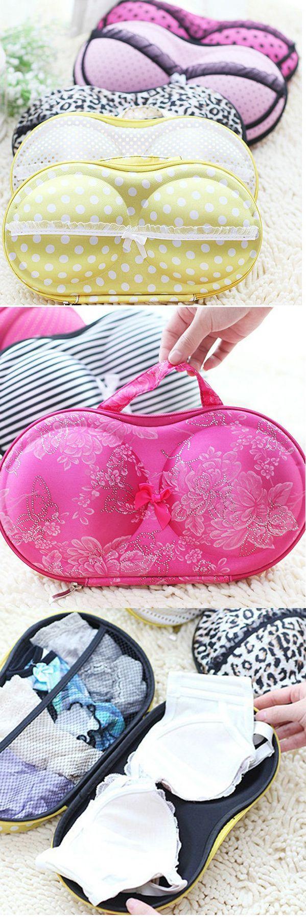 US$9.29 Women Portable Creative Bra Underwear Storage Bag Travel Faschion EVA Storage Containers