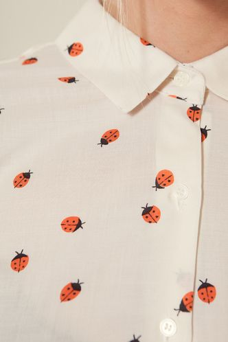 Lady bug print blouse. Olive Clothing.