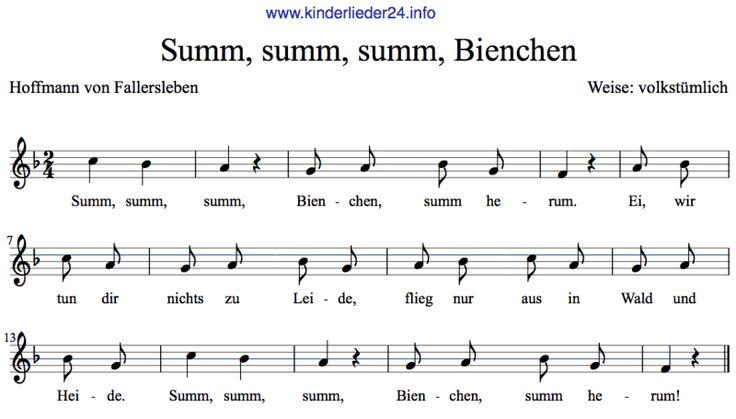 Kinderlieder Noten