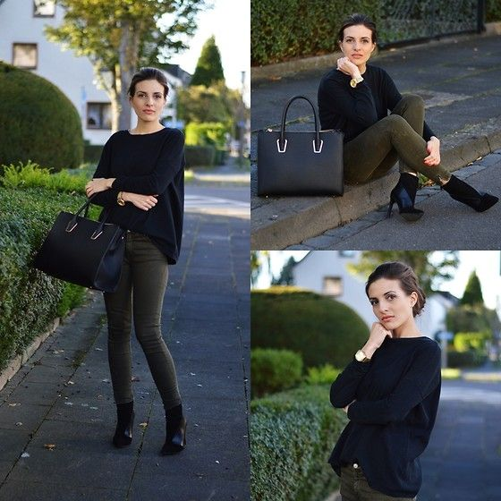 Get this look: http://lb.nu/look/7763958  More looks by Hannah A.: http://lb.nu/celebritiesfashion  Items in this look:  Zara Sweater, H&M Bag, Zara Jeans, Zara Ankle Boots   #casual #chic #street