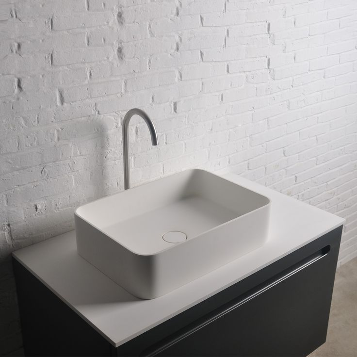 Thin SQ Rectangular Vessel Sink
