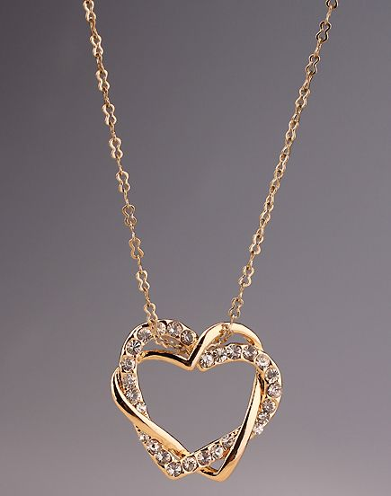 Shop Gold Diamond Heart Necklace online. Sheinside offers Gold Diamond Heart Necklace & more to fit your fashionable needs. Free Shipping Worldwide!