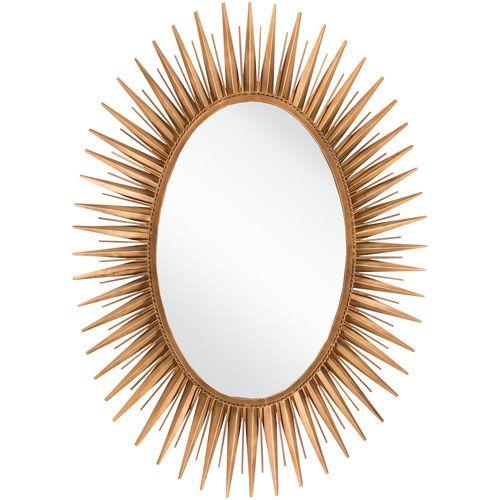 Warren Antique Gold Decorative Oval Mirror Surya Oval Mirrors Home Decor
