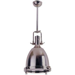 Schots Home Emporium 'Evans Pendant Light in Brushed Nickel' $295 360mm diameter, 880mm high.  Need 1300mm drop.