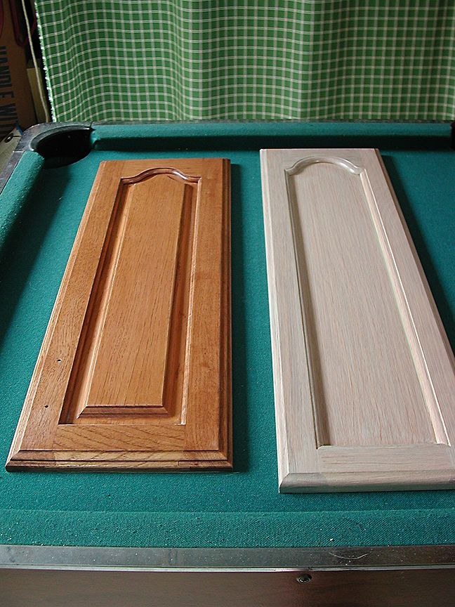 whitewashed kitchen cabinets | Whitewashed Kitchen Cabinets--Before and After, finishes, close up ...