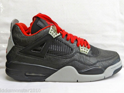 Nike Air Jordan IV 4 Retro Laser Rare Air Black Grey Men Sz 10