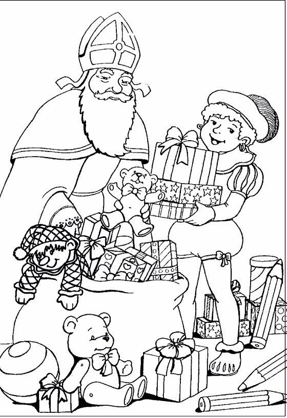 Sinterklaas Kleurplaten