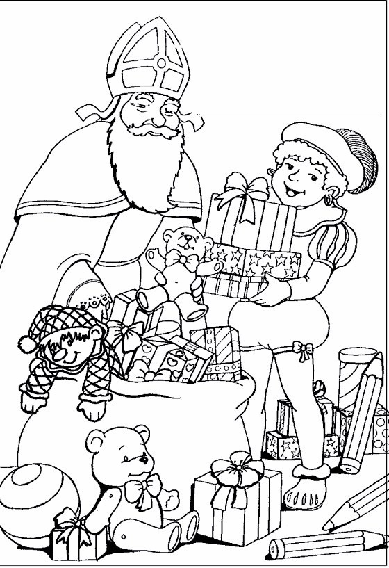sinterklaas coloring pages - photo#18