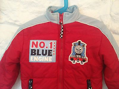 Boys Thomas the Tank Engine Red & Blue Winter Jacket Coat - Size 3 - RRP $45  Now selling - Click through to go to eBay auction!