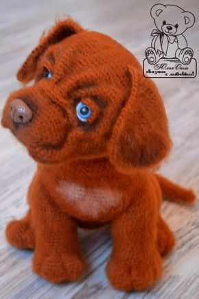 Мои авторские Собачки – 330 фотографий Crochet amiguruni pup... someday I want to be this good at yarning