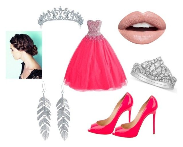 """""""Pink Explosion"""" by outfit-creator ❤ liked on Polyvore featuring Christian Louboutin, Belk Silverworks, Nevermind and Bling Jewelry"""