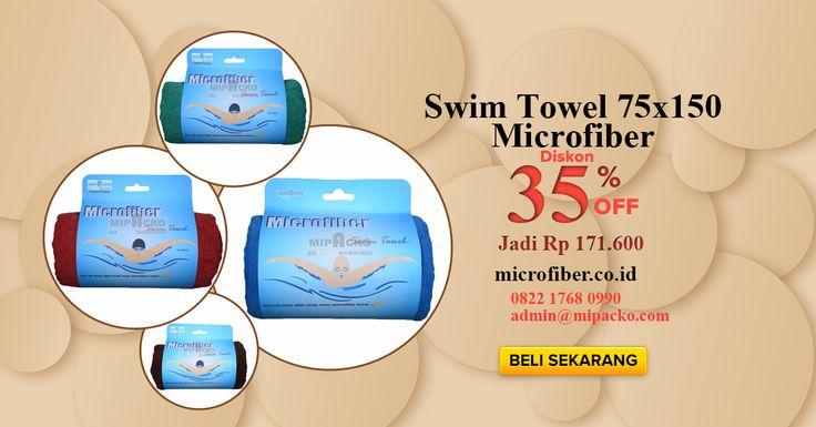 Selamat pagi, yang hobi nya berenang harus banget pakai Handuk Microfiber Renang, mengeringkan tubuh cukup dengan sekali usap