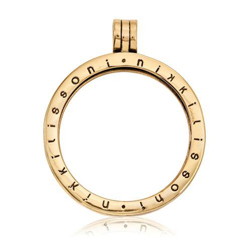 Nikki Lissoni Gold-tone Medium Coin Holder Pendant