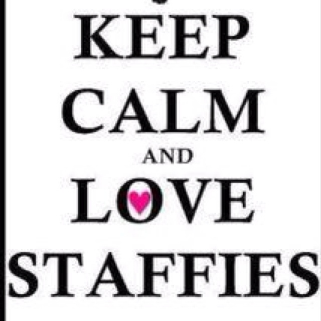 Keep Calm and Love Staffies.