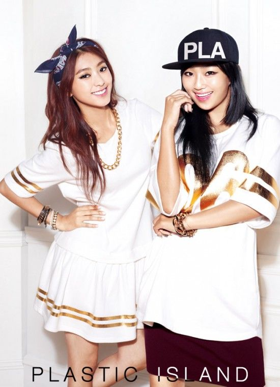 SISTAR's Bora & Hyorin for Plastic Island's Fall 2013 ad campaign