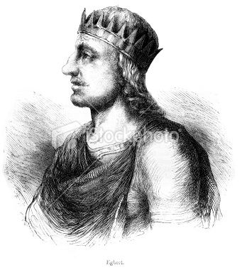 """Egbert, the Saxon; sometimes spelled Ecbgerht or Ecgbryh.  He has been called """"the first king of all England"""" and """"the first king of all the English.""""  Egbert was noted for helping to make Wessex such a powerful kingdom that England was eventually unified around it.  He was accepted king in Essex, Kent, Surrey and Sussex and for a time also managed to conquer Mercia, he has been called """"the first king of all England."""""""