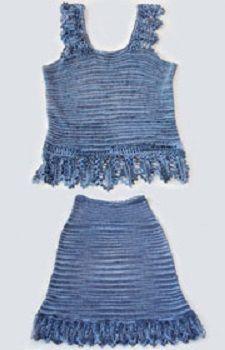 Tílko se sukní | RUČNÍ PLETENÍ - NÁVODY ZDARMA