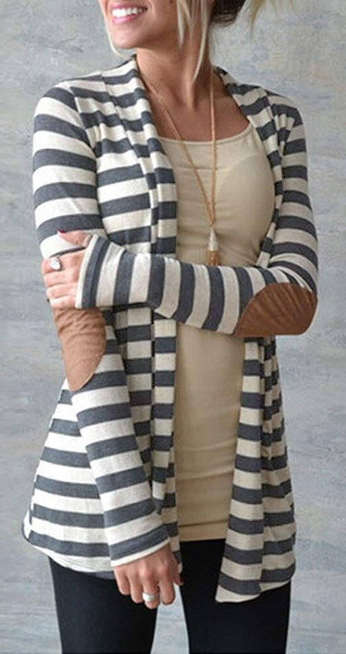 After Party Stripe Cardigan