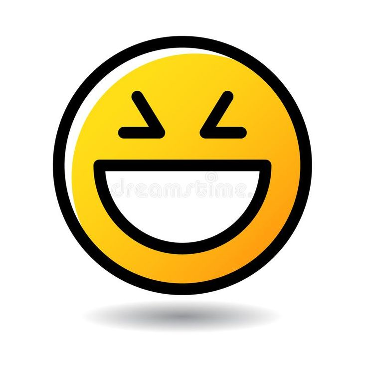 Big Laugh Face Emoticon Emoji Icon Vector Illustration Of Smile