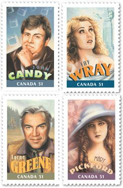 Canadians In Hollywood / Canada postage stamp
