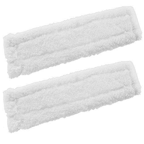 Spares2go – Lot de 2 lingettes microfibres pour nettoyeur de vitre Karcher WV2 Premium: Lingettes lavables microfibres de rechange pour…
