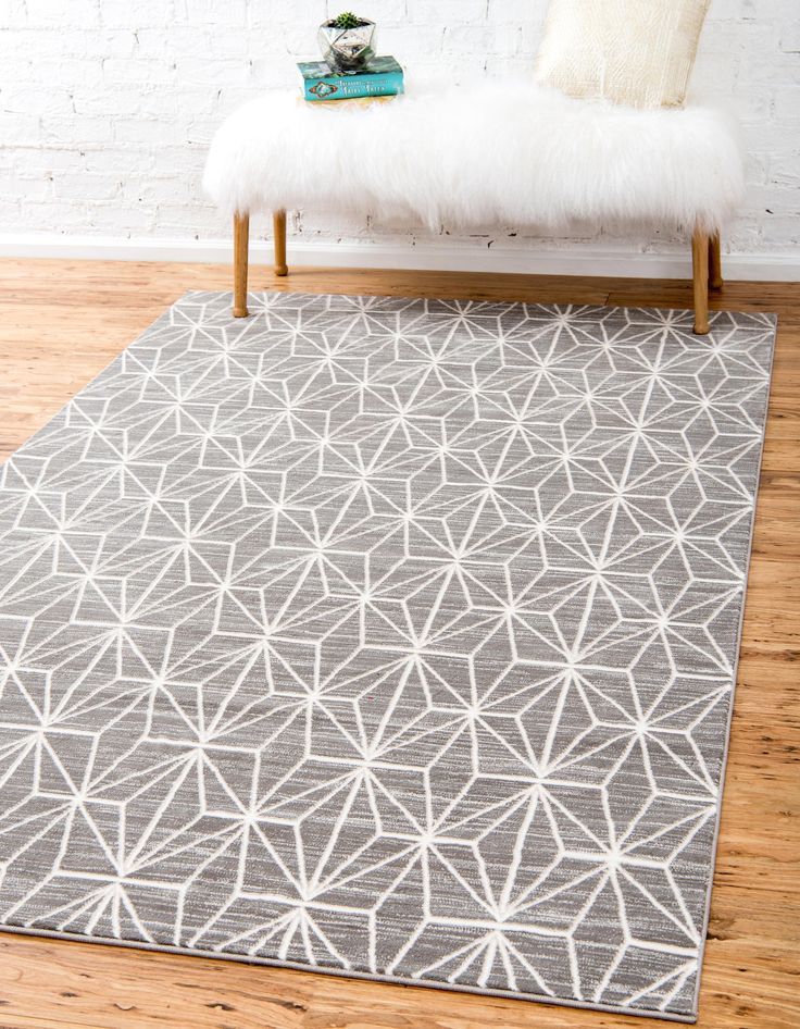 Gray Unique Loom 8 X 10 Uptown Collection By Jill Zarin Rug Area