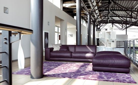Divani in pelle |     Purple leather couch