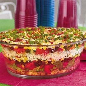 Southwestern Cornbread Salad - cornbread, romaine, tomatoes, black beans, corn, shredded cheese, bacon, green onions