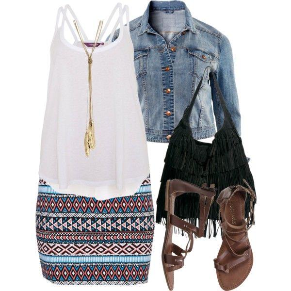 Aztec Skirt - Plus Size, created by alexawebb on Polyvore Freakin loooove it!!!