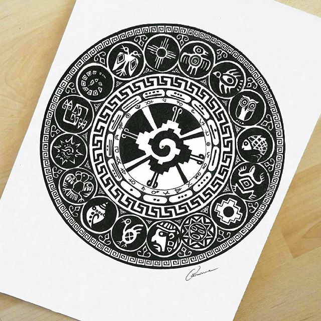 """Discipline is the bridge between goals and accomplishment"" #inca #symbol #peru #mandala #mandalala #oksanastepanova"