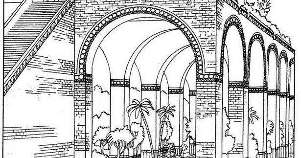 Disegni Da Colorare I Babilonesi La Porta Di Ishtar Da Colorare