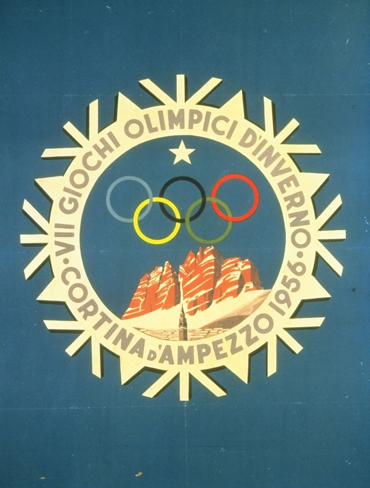 Winter Olympics Poster 1956. Cortina d'Ampezzo | All Things Olympic | Pinterest | Olympics, Winter and Gaming